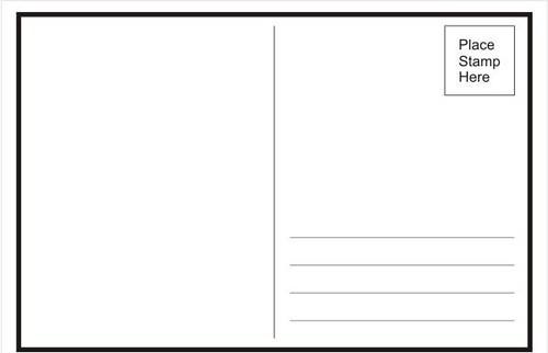 postcard blank