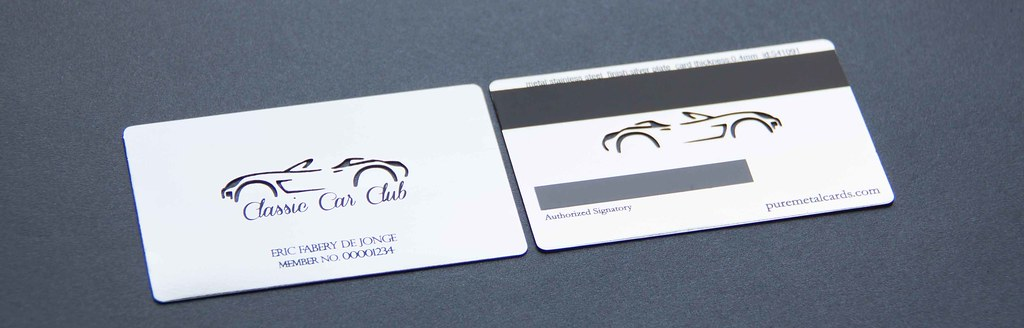 Pure Metal Cards Silver Plated member card