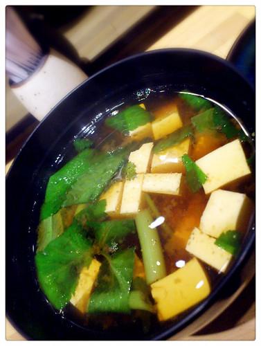 昇壽司_水芹菜味增湯