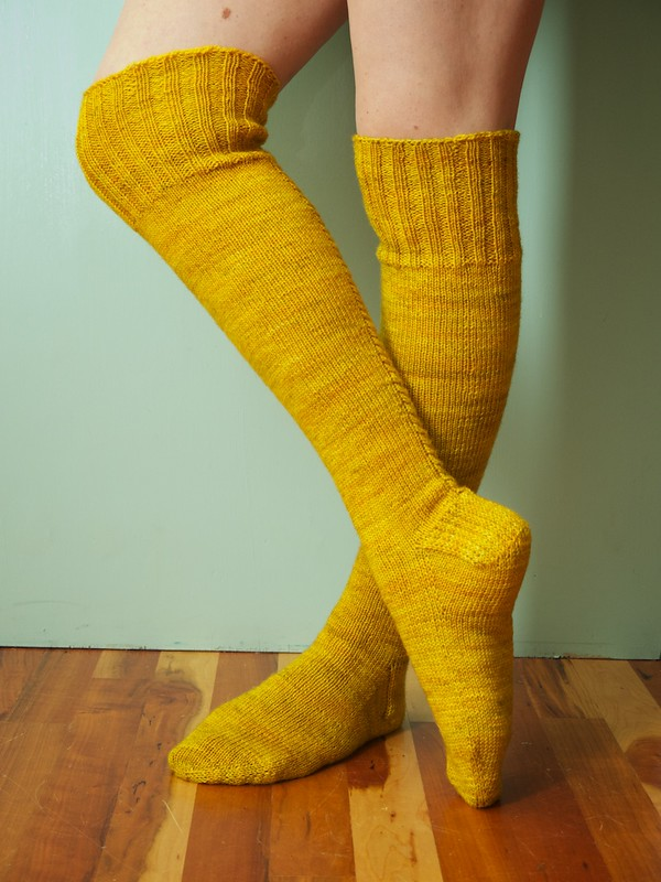 Little Cable Knee Highs - Done!