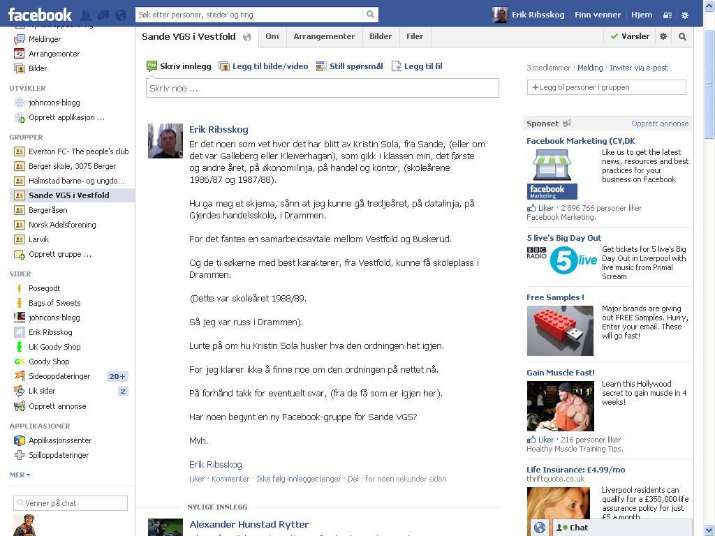 sande vgs facebook