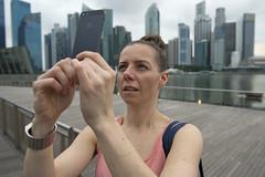 Eralda with iPhone - Marina Bay Singapore