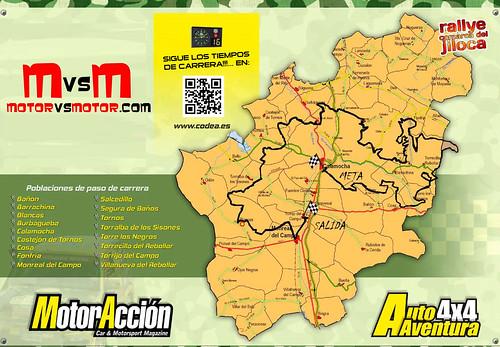 Recorrido Rally Comarca del Jiloca 2013