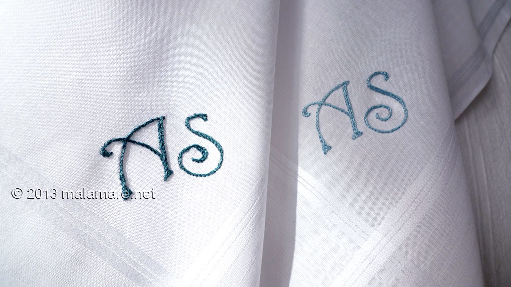 Hand embroidered handkerchief personalized gift