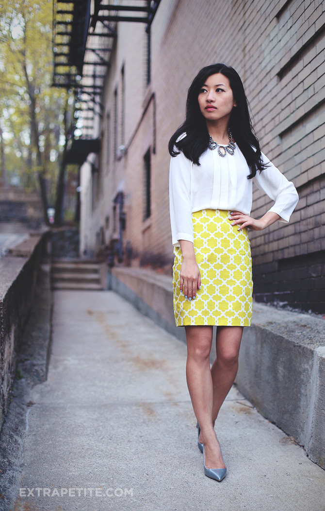 lime DIY skirt silver pumps1