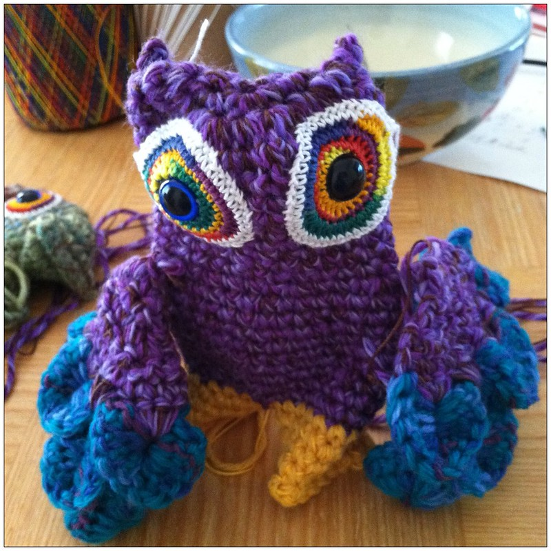 Monster Owl Doll WIP by Knot By Gran'ma