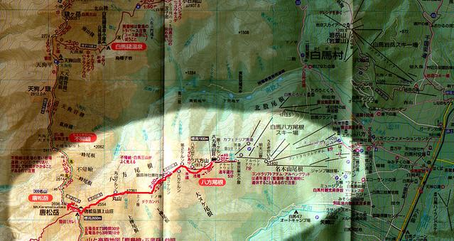 唐松岳の地図