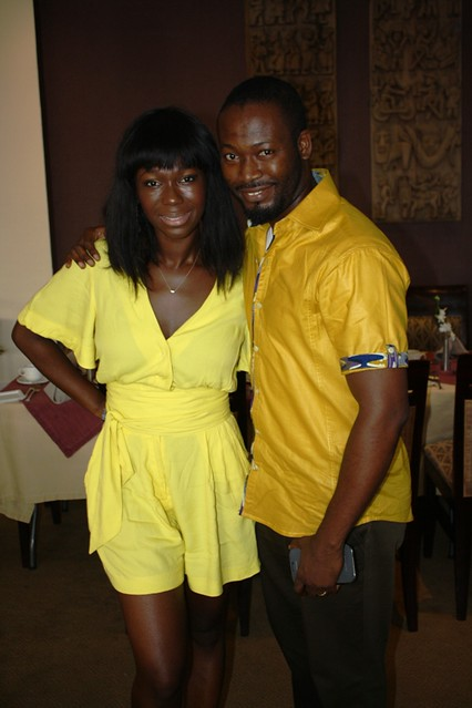 Ama K. Abebrese birthday party