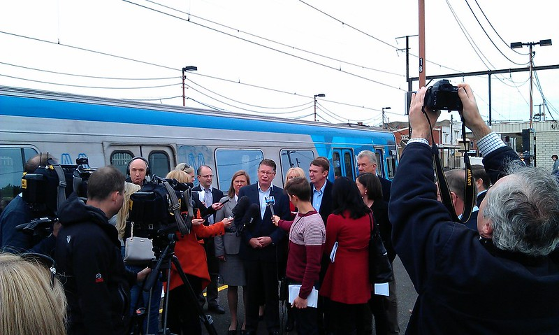 Press conference at Bentleigh station, 5/5/2013