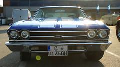 chevrolet chevelle(0.0), chevrolet(1.0), automobile(1.0), automotive exterior(1.0), vehicle(1.0), compact car(1.0), antique car(1.0), land vehicle(1.0), muscle car(1.0),