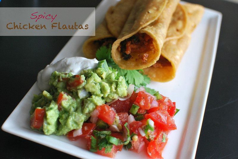 Spicy Chicken Flautas