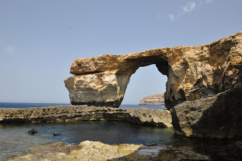 Divers in the Blue Hole, Azure Window