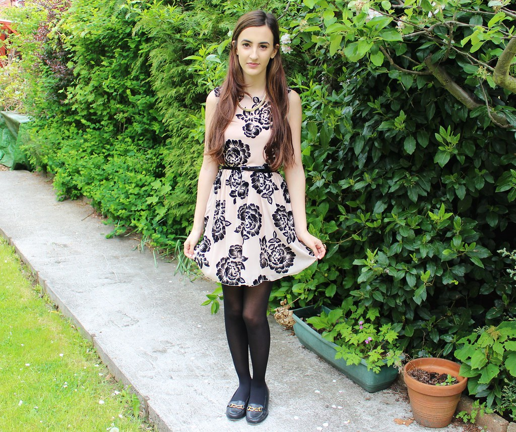 Floral Dress OOTD 5