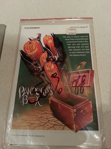 Pandora's Box (Apple II, Datamost, 1983) front of package