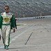 Ed Carpenter walks out to qualify