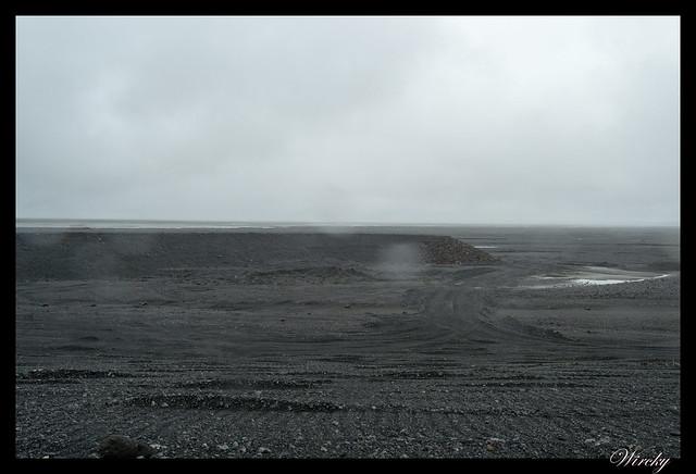 Llanuras de arena negra en Islandia