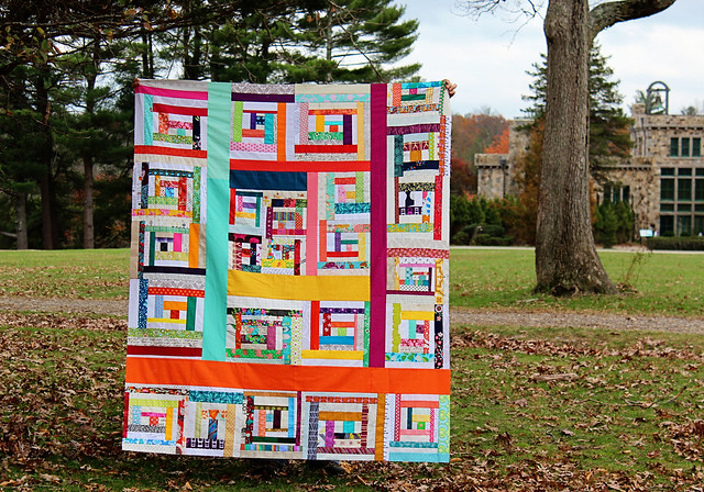 Framed Cabins Quilt Top
