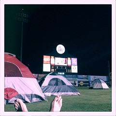 Baseball game, camping, and a movie. Win. Win. Win.
