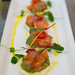 Skuna Bay salmon crudo with avocado, Meyer lemon, pickled shallot, chili, rice crisps at ACES