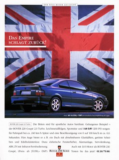 "1993 Rover 220 Coupe (German ad) ""The Empire Strikes Back"""