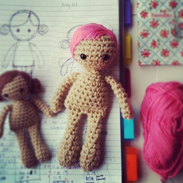 Amigurumi Crochet Hair : Pink hair. Me likey. #crochet #doll #dolly #handmade # ...
