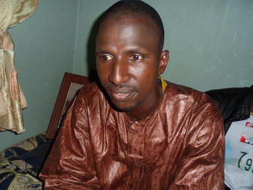 M. Gacko, mari de feue Penda Soghé, violée et assassinée à Nouakchott dans la nuit du jeudi à vendredi. Photo Khaly Diallo