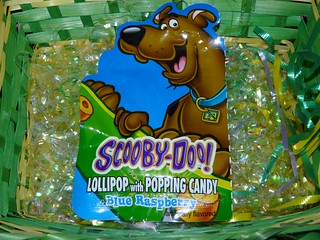Scooby Doo lollipop with popping candy