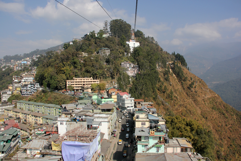 View of Gangtok city