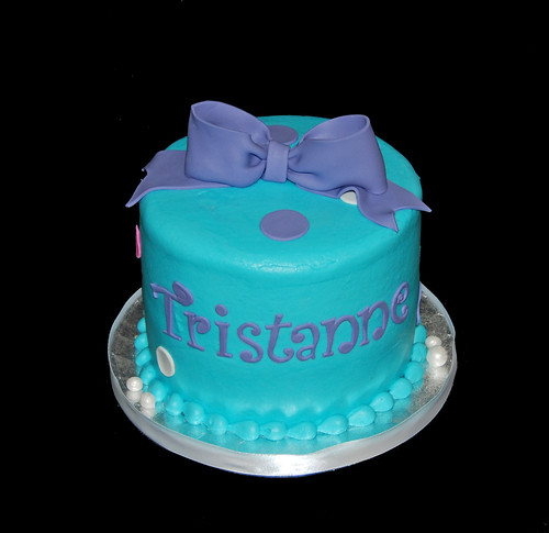 12th birthday cupcake tower aqua purple and pink