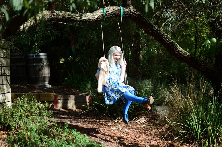 garden tree swing b