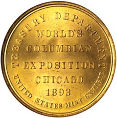 Columbian expo Treasury Dept medal rev