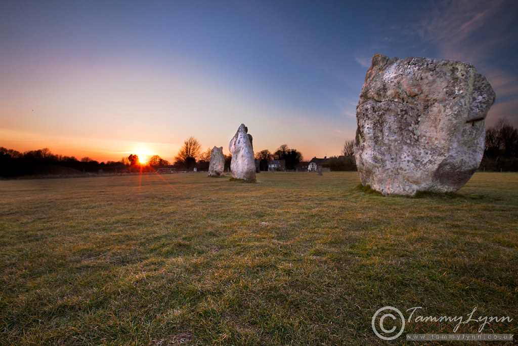 Sunset at Avebury
