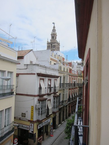 View of La Giralda Tower from my balcony by Michael Tinkler