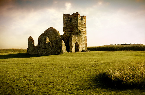 english heritage church grass ruin norman dorset ritual knowlton neolithic henge earthwork