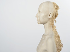 <strong>The Tainted - </strong> <br />Aron Demetz, Sud (detail, side profile), 2012, Limewood, 80 cm x 60 cm x 220 cm