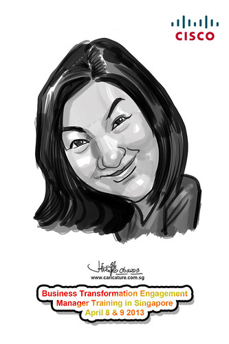 digital caricature for Cisco - 12