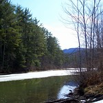 tributary at old marina, North Shore Road, Newfound Lake (Hebron NH), 7 April 2013