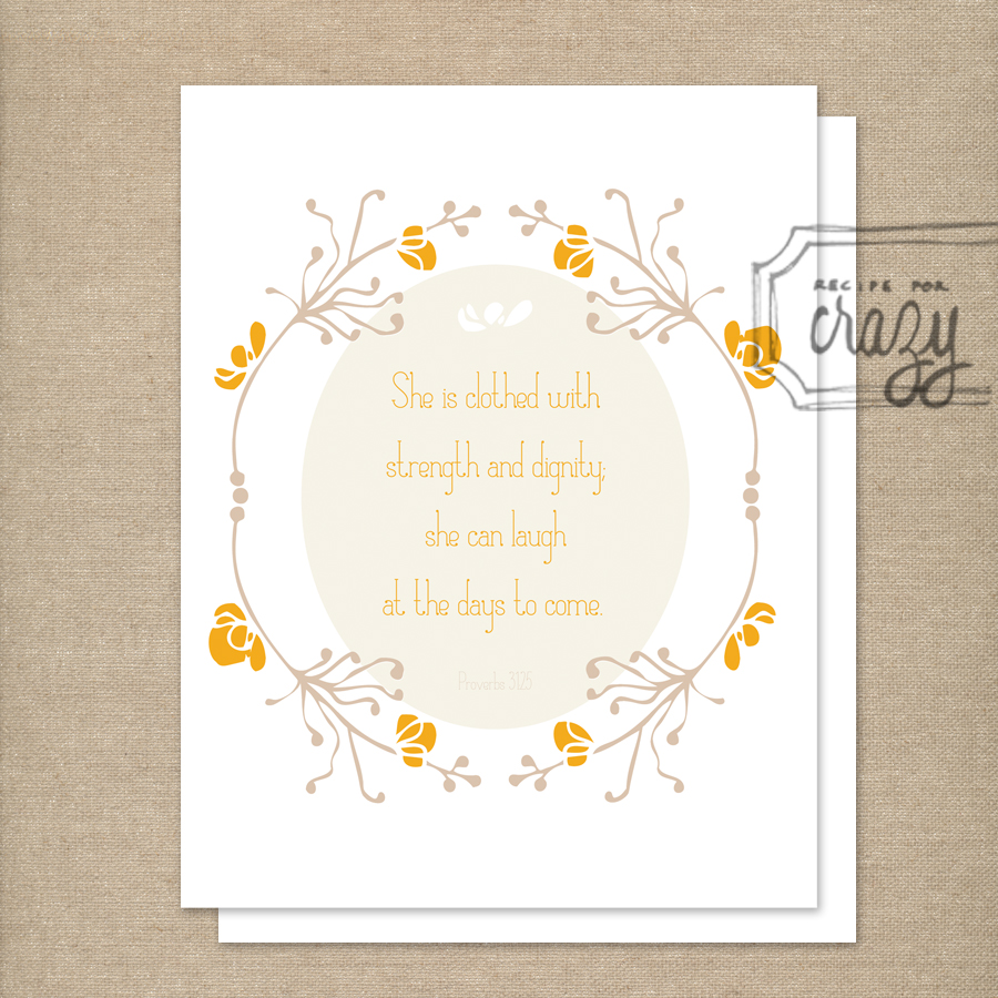 She can laugh at the days to come - folded card
