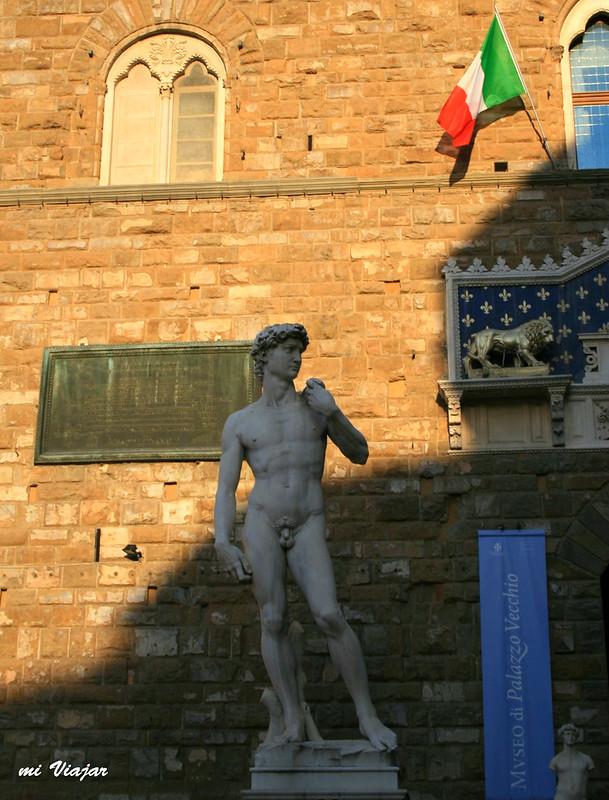 El David de Miguel Angel, Florencia Italia