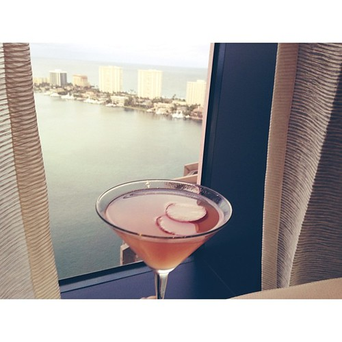 My drink is enjoying the view. Boca Raton.