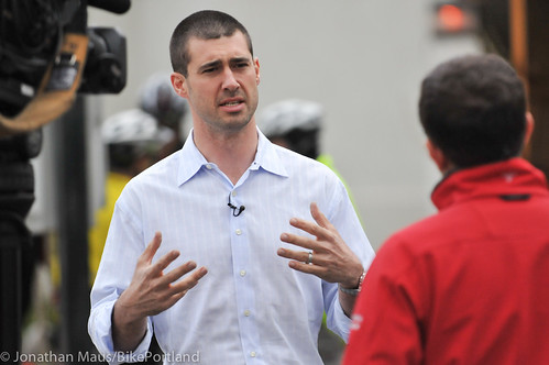 Joey Harrington school bike safety event-5