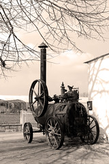wheel, vehicle, transport, steam engine, monochrome photography, iron, monochrome, black-and-white,