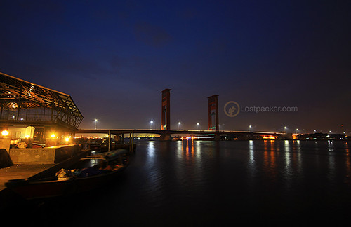 bridge sunrise indonesia palembang