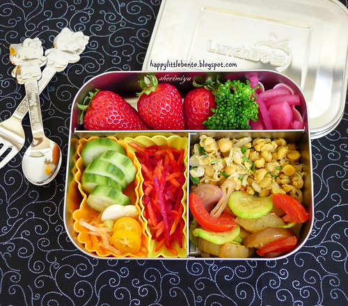 Vegetarian Spices LunchBots Bento by sherimiya ♥