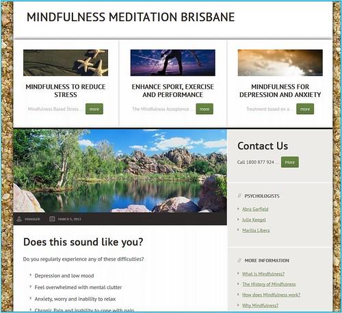 Mindfulness website snapshot