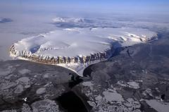 IceBridge Survey Flight Over Saunders Island and Wolstenholme Fjord