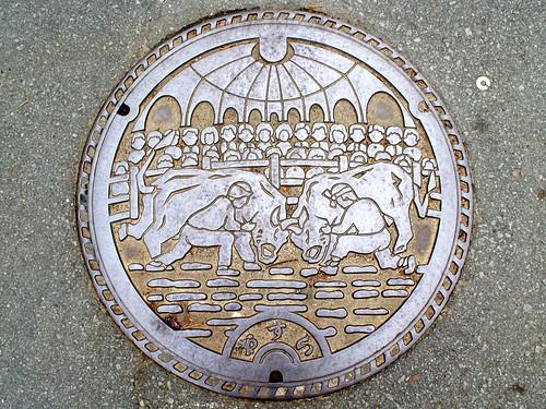 Uwajima city Ehime pref, manhole cover(愛媛県宇和島市のマンホール)