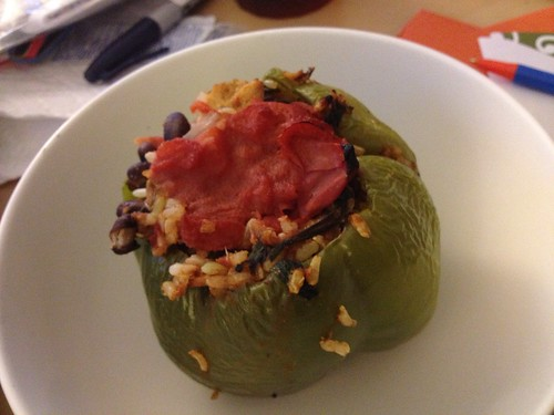 chicken rice stuffed peppers