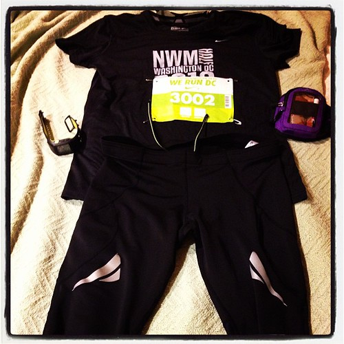 Back in black - Nike Women's Half Marathon outfit