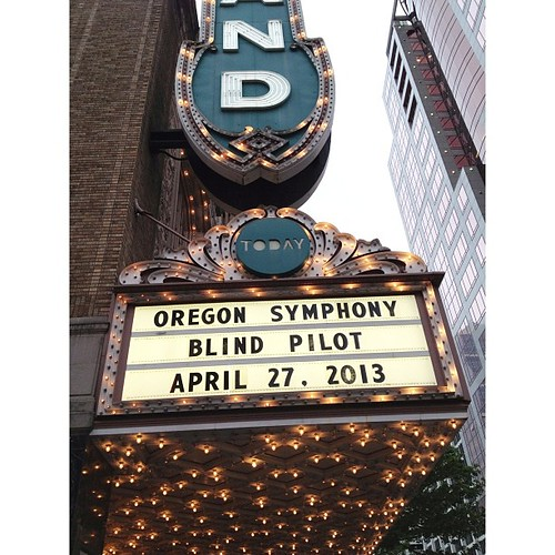 This is happening. #blindpilot plus #symphony OMG it's going to be good expecting there will be tears of overwhelm in a good way.